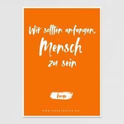 Postkarte (orange)