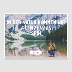 "Postkarte ""In der Natur..."