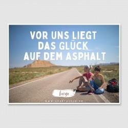 """Postkarte """"Vor uns liegt..."""